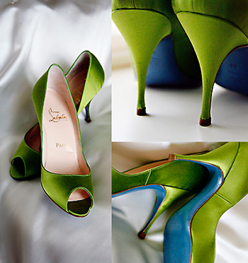 Designer Is Louboutin Made A Blue Sole Wedding Shoe So The Was Bride S Something Marie Shared With Me That